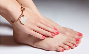 Natural Nail Manicure & Invigorating Pedicure with Gel Polish ($65 Value)